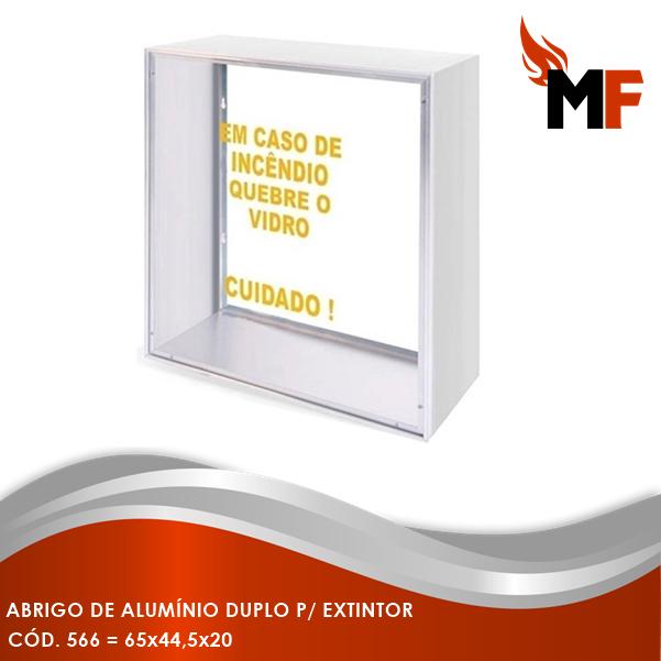 Abrigo de Alumínio Duplo para Extintor