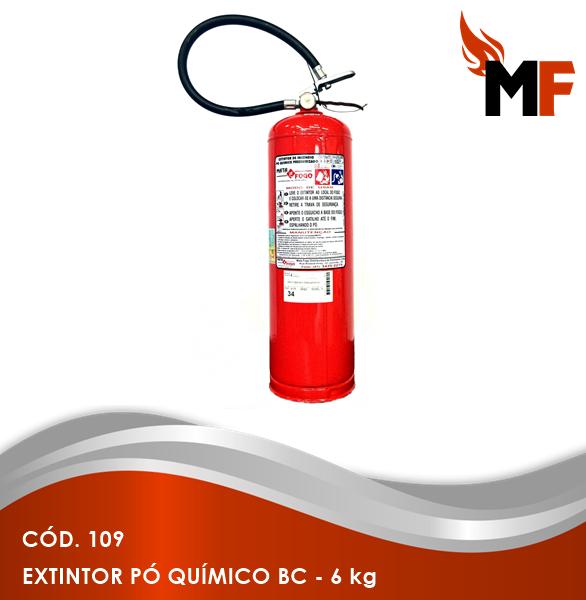 *Extintor Pó Químico BC - 6 kg