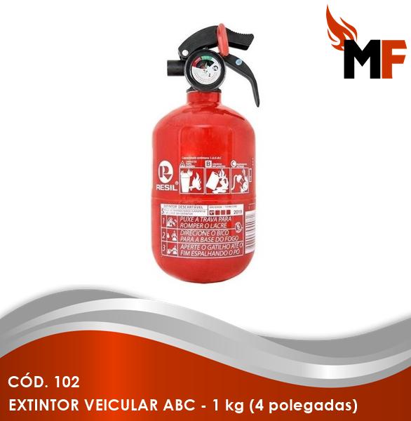 *Extintor Veicular ABC - 1 kg (4 polegadas)