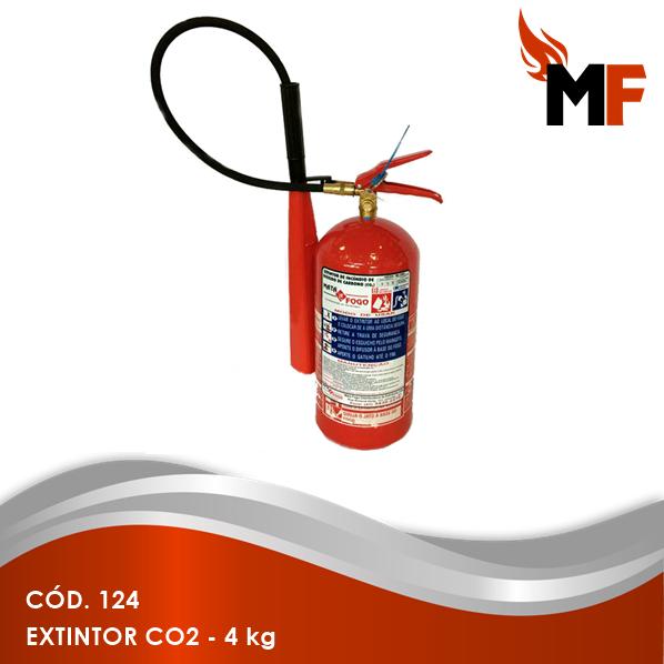 *Extintor CO2 - 4 kg
