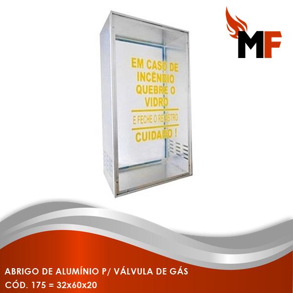 Abrigo de Alumínio para Válvula de Gás